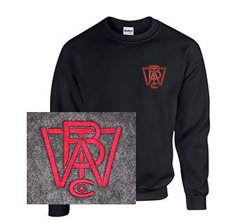 Crew Neck Sweatshirt with Wood Brothers Logo