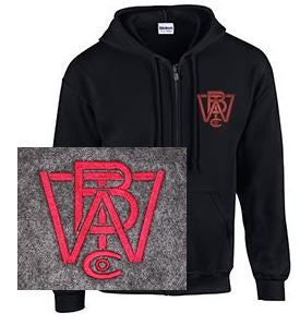 Full Zip Hoodie with Wood Brothers Logo