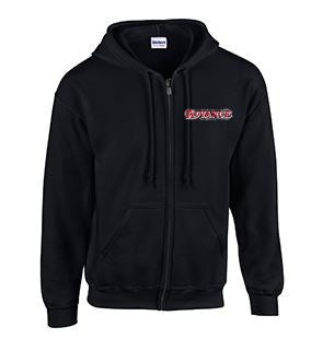 Full Zip Hoodie with Advance Lettering