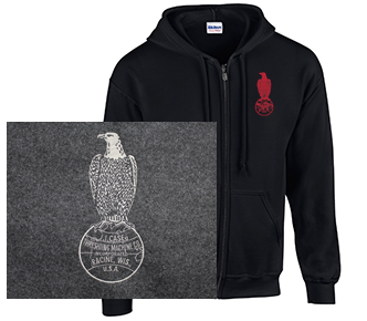 Full Zip Hoodie with Case Outline Logo