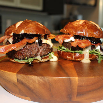 Blueberry BBQ Brie Burger Upgrade