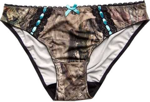 Wilderness Dreams Aqua Bow Bikini Pantie
