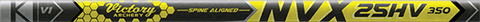 Victory NVX 25HV .345 Elite Target Raw Shafts - 12 Pack