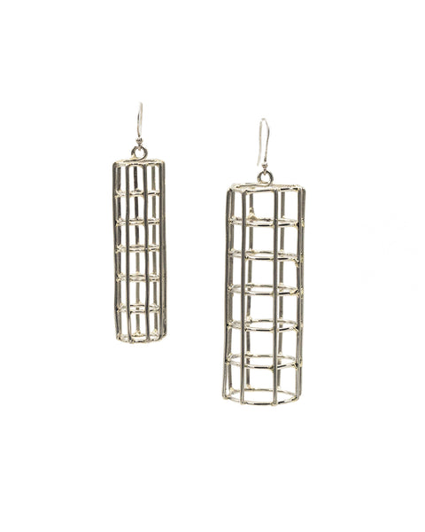 Cage Cylinder Earrings