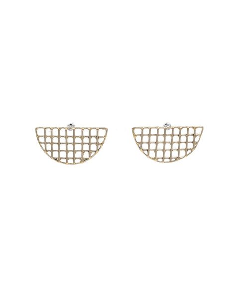 Cage Fan Earrings