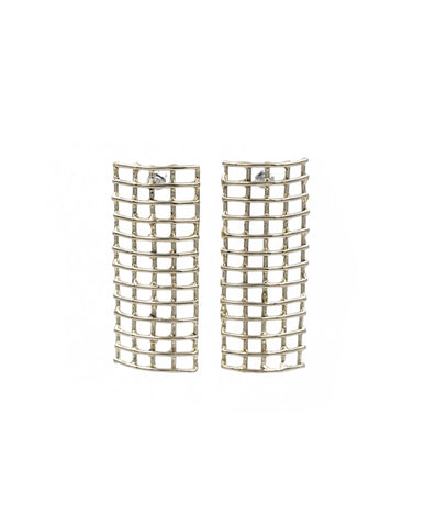 Cage Shield Earrings