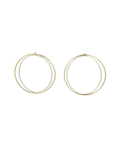 Nude Round Earrings