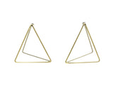 Nude Triangle Earrings