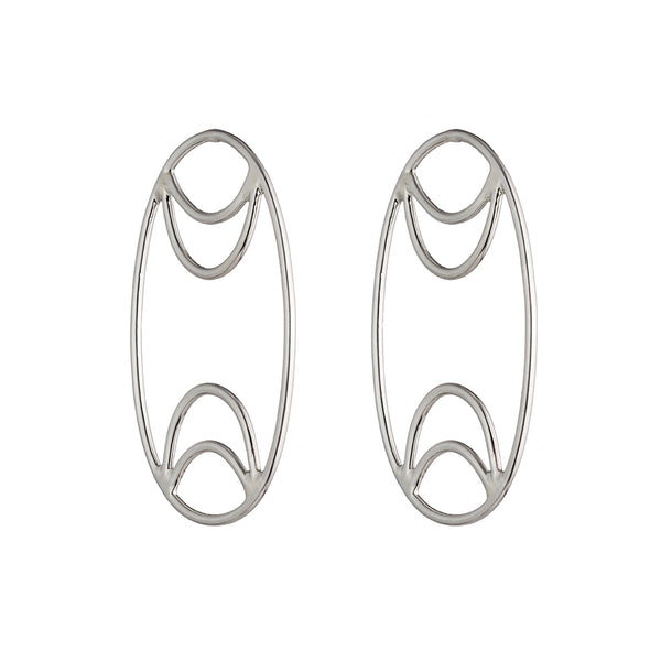 Oval Board Earrings