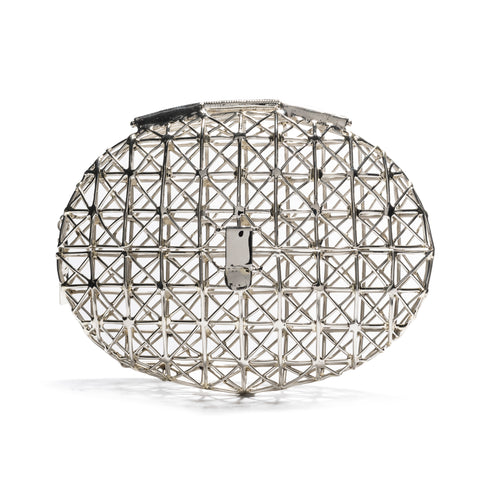 Oval Diamond Cage Clutch