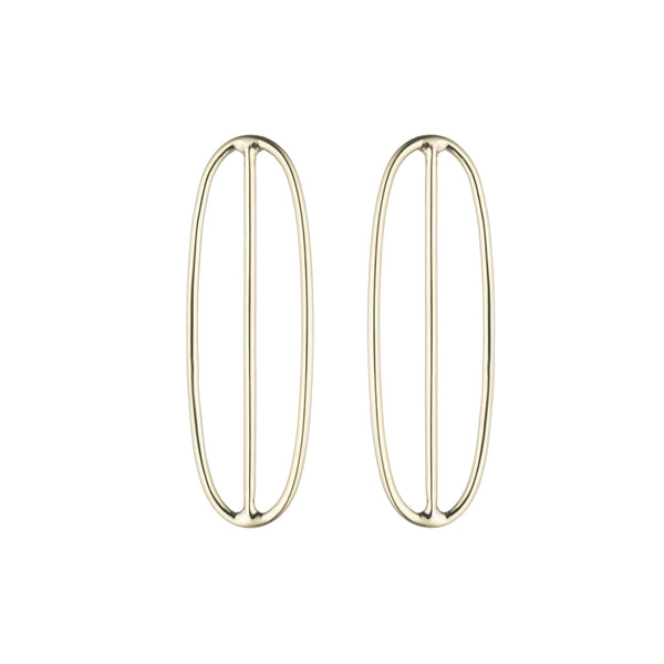 Oval Saturn Earrings