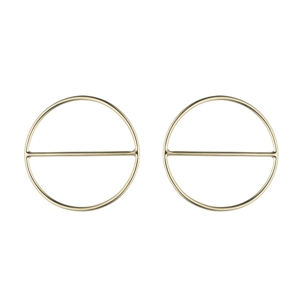 Round Saturn Earrings