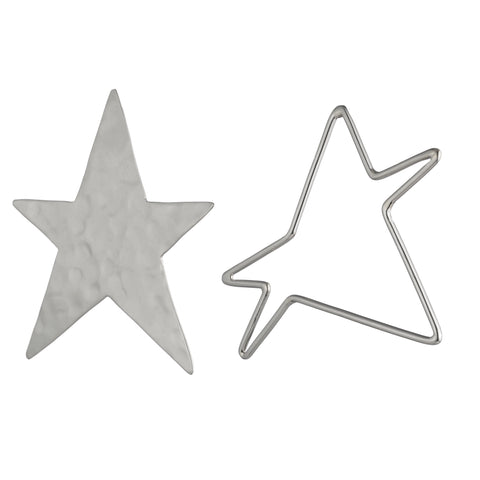 Ying-Yang Star Earrings
