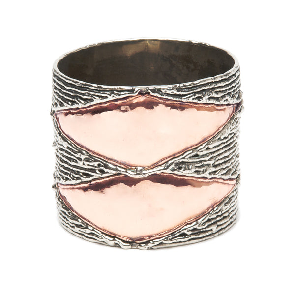 Copper Diamond Bangle