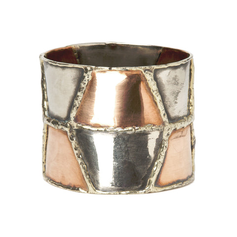 Faceted Copper Bangle