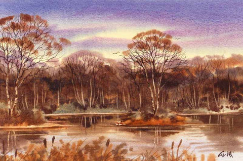 Lakeside. Original watercolour