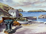 Mullion harbour. Signed print 8 x 6 inches