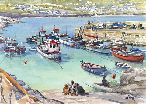 Coverack. Signed print 8 x 6 inches