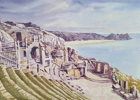 Minack theatre. Original watercolour
