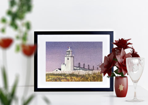 Lizard lighthouse. Signed print 8 x 6 inches