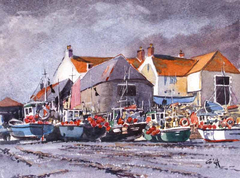 Cadgwith village. Original watercolour