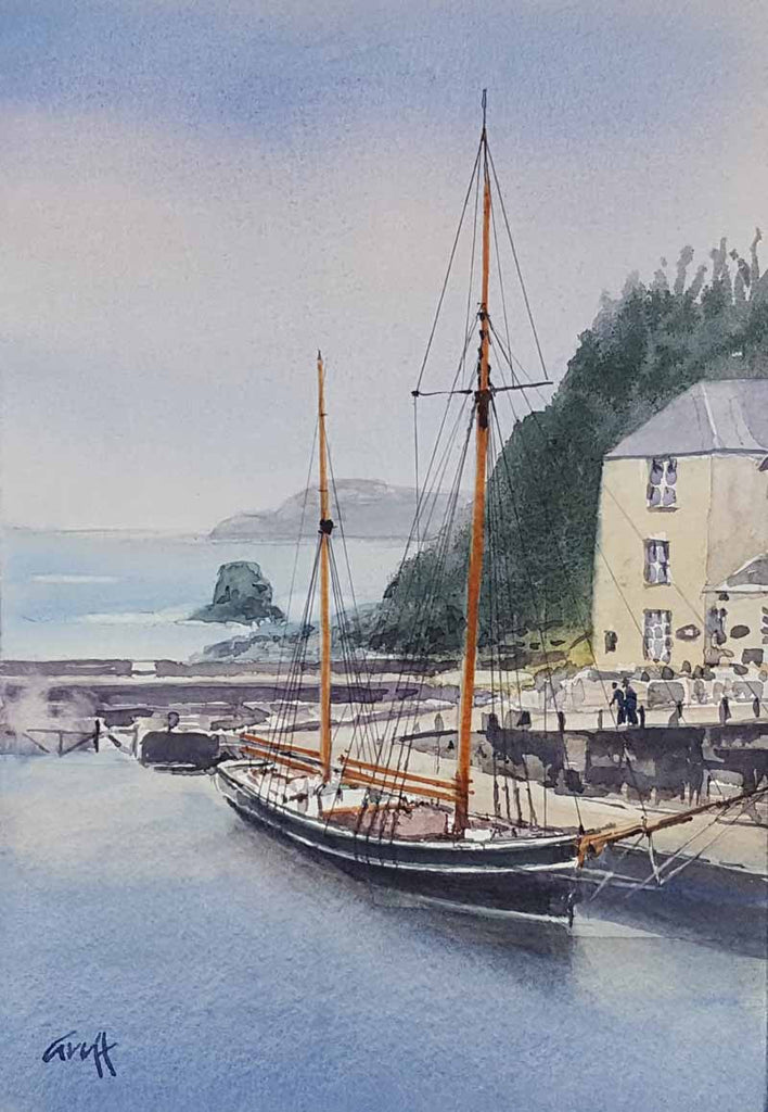 Charlestown. Original watercolour
