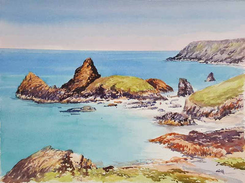 Kynance cove. Original watercolour