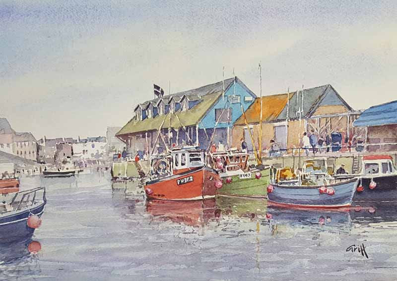 Mevagissey. Original watercolour