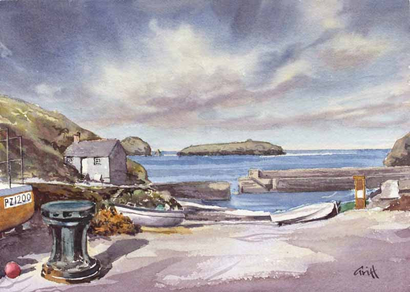 Mullion Cornwall. Original watercolour