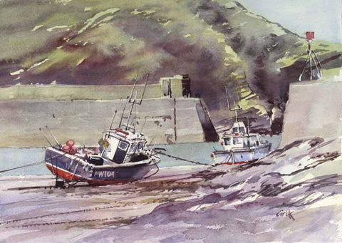Port Isaac. Original watercolour
