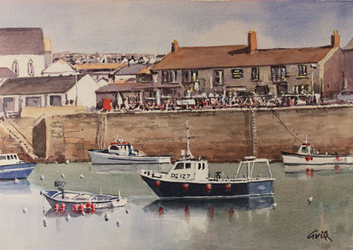 Porthleven. Original watercolour