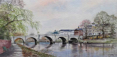 Richmond bridge. Original watercolour