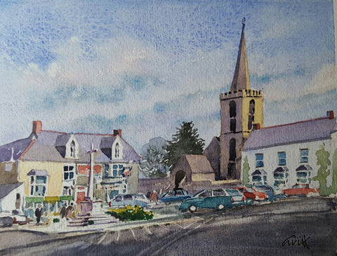 St Keverne. Original watercolour