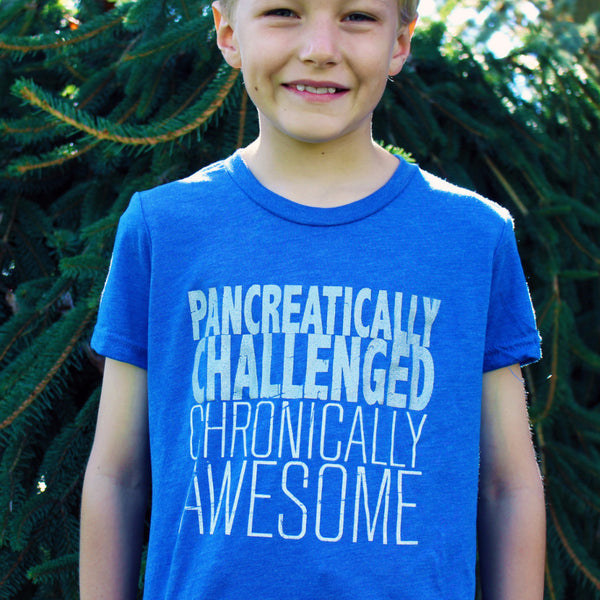 'Chronically Awesome' Youth Tee - Sugar Linings Swag - Diabetes Shirts and Clothing