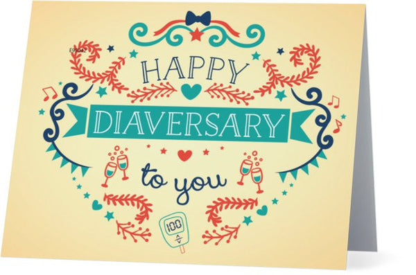 """Happy Diaversary"" Greeting Card"