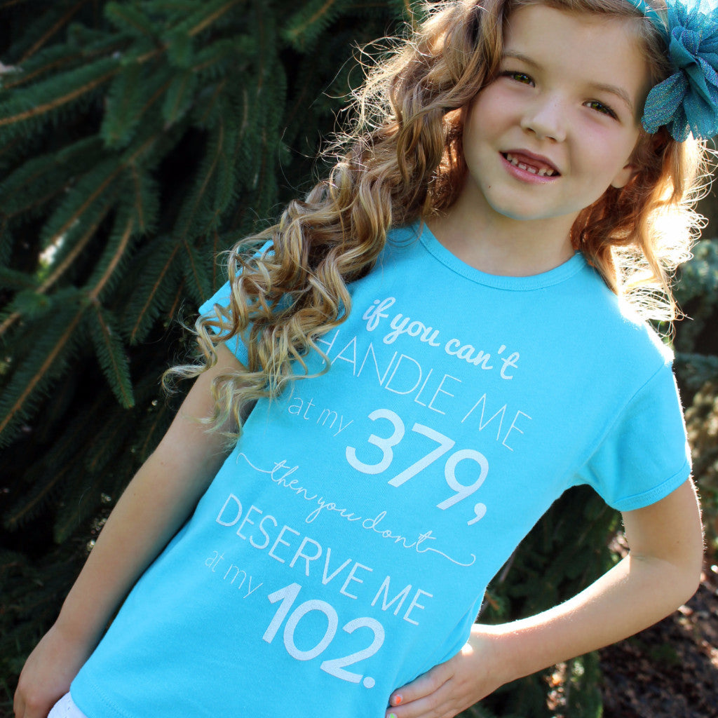 'Deserve Me' Girls' Tee - Sugar Linings Swag - Diabetes Shirts and Clothing