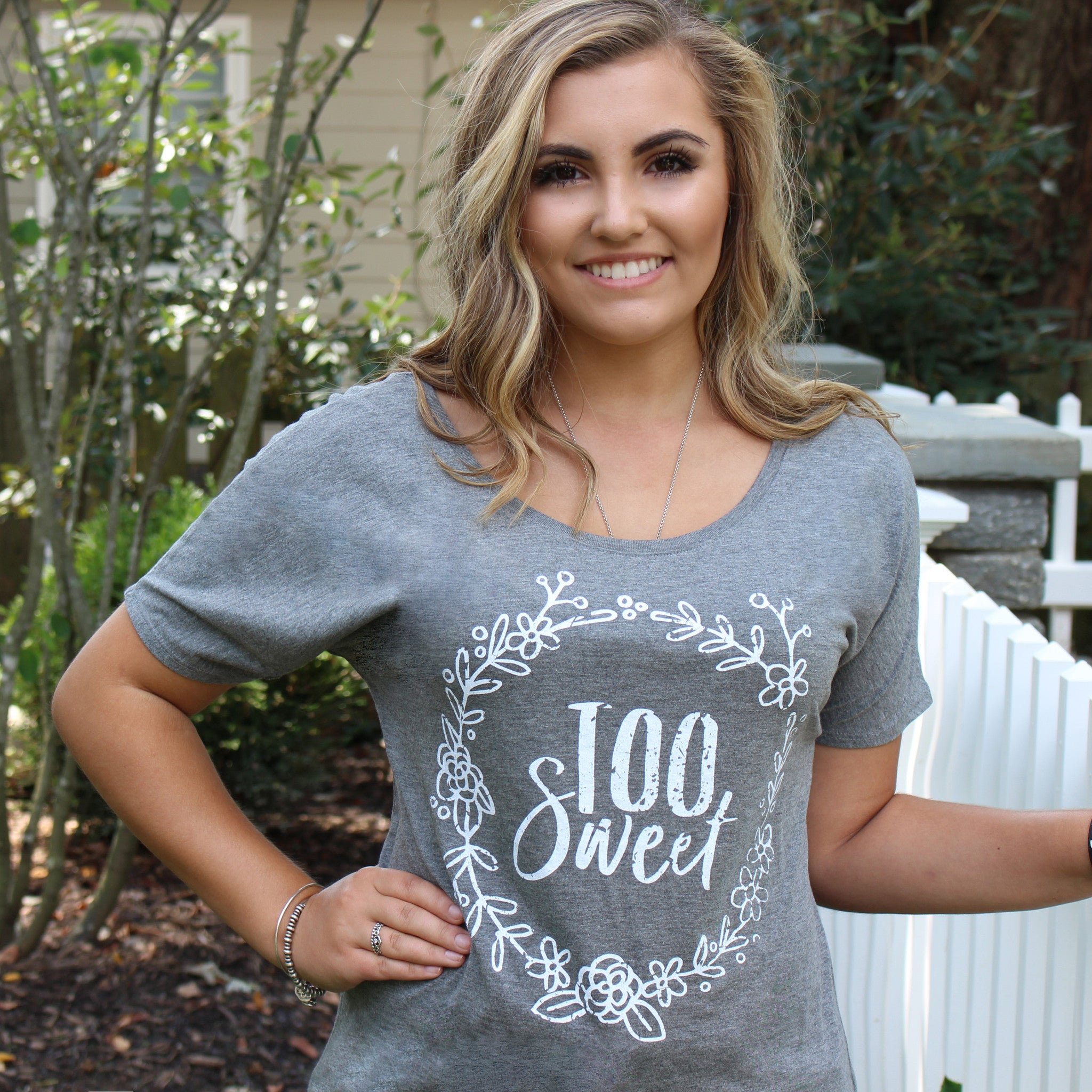 'Too Sweet' Women's Fashion Tee - Sugar Linings Swag - Diabetes Shirts and Clothing
