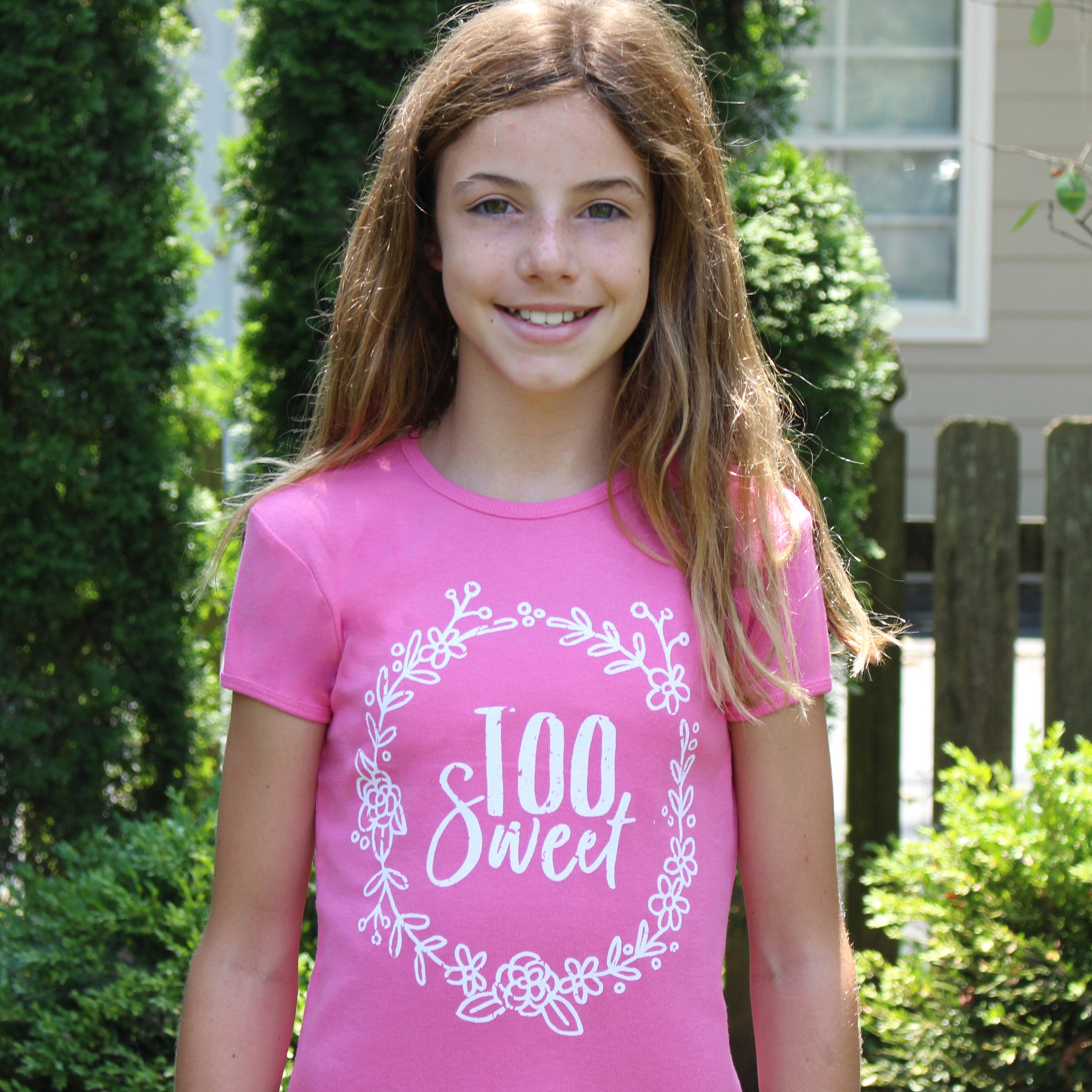 'Too Sweet' Girl's Tee - Sugar Linings Swag - Diabetes Shirts and Clothing