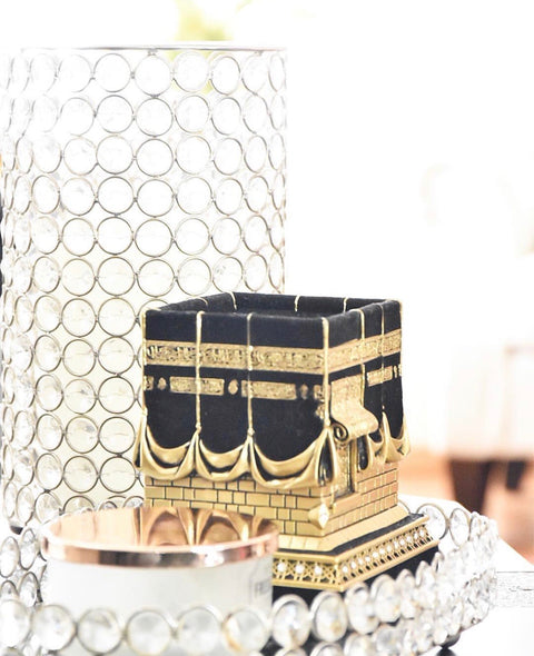 Mecca Ka'ba Model Gold Table Decor