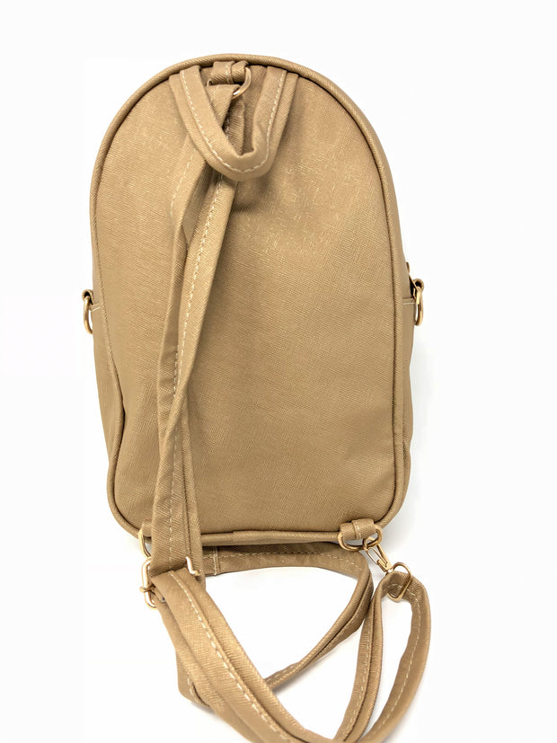 MID Women Backpack Purse PU Washed Leather Convertible Ladies Rucksack Tassel Zipper Pocket Shoulder Bag