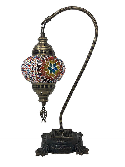 Mosaic Turkish Lamp Swan Neck Dragon