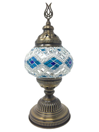 Mosaic Turkish Lamp Royal White Medium