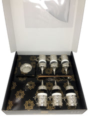 Konya Silver Traditional Handmade Ottoman Metal Turkish Coffee Set