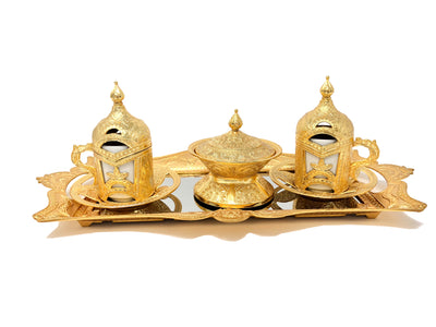 Sivas Prestige Ottoman Coffee Set - Mirrored (3 Colors)