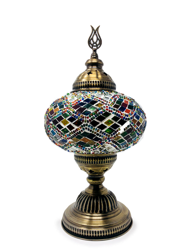 Mosaic Turkish Lamp Four Seasons Large
