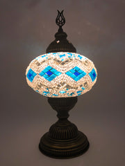 Mosaic Turkish Lamp Royal White Large