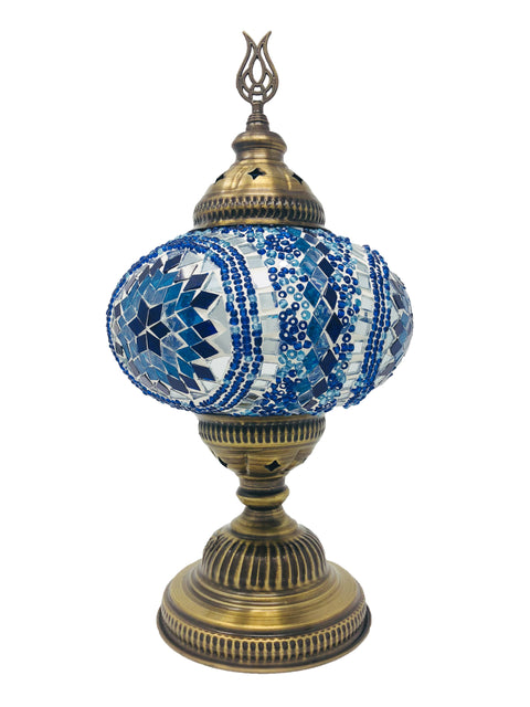 Mosaic Turkish Lamp Royal Blue Large