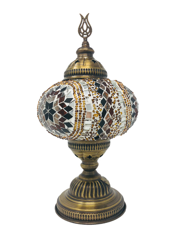 Mosaic Turkish Lamp Royal Gold Large