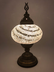 Mosaic Turkish Lamp White Large