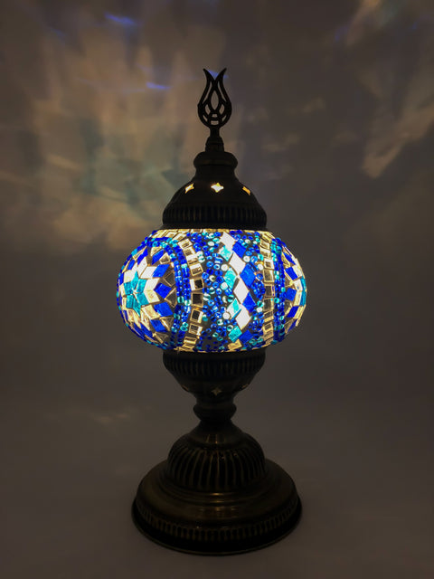 Mosaic Turkish Lamp Royal Blue Medium